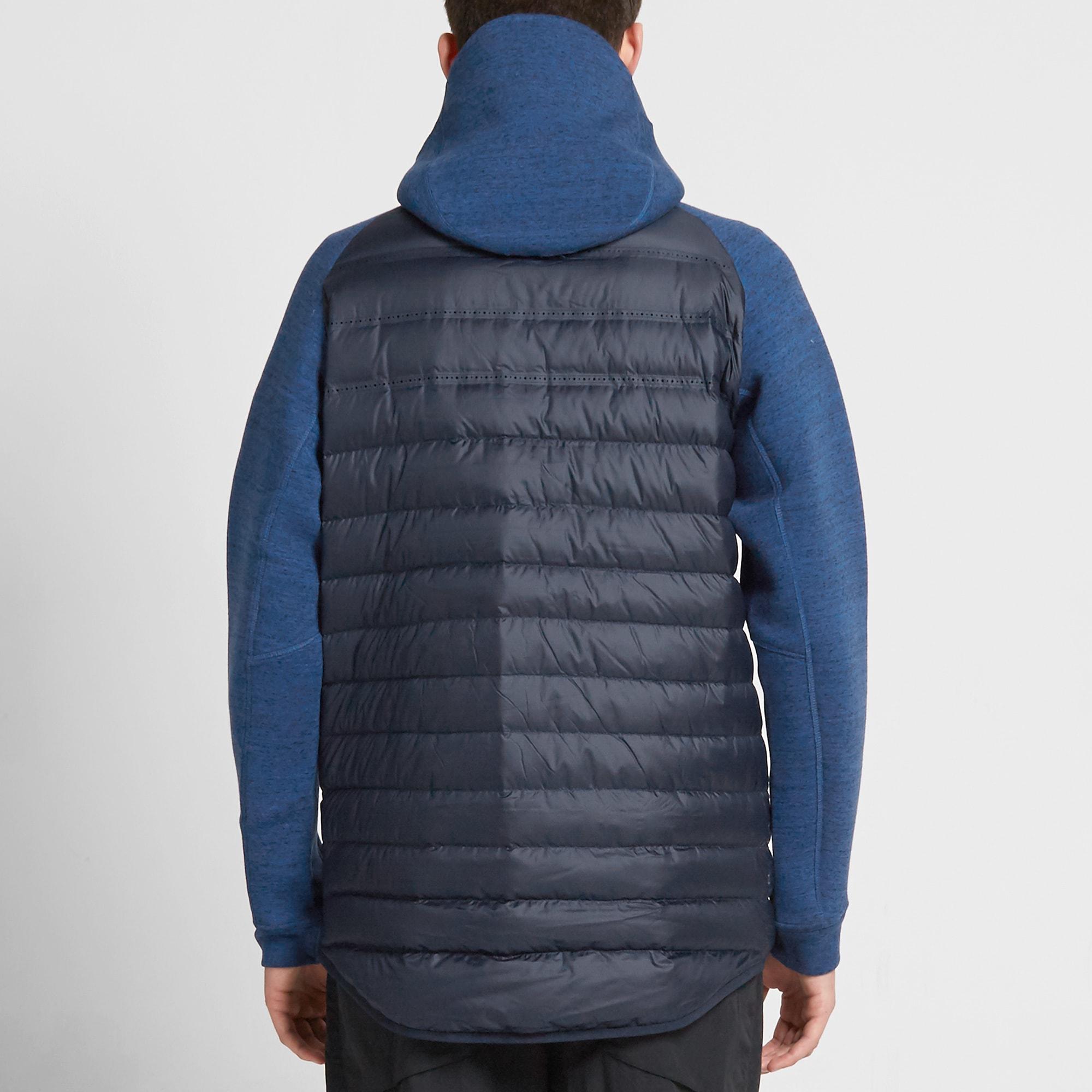 prima vendedor saldar  Nike Tech Fleece Aeroloft Jacket Obsidian & Game Royal | END.