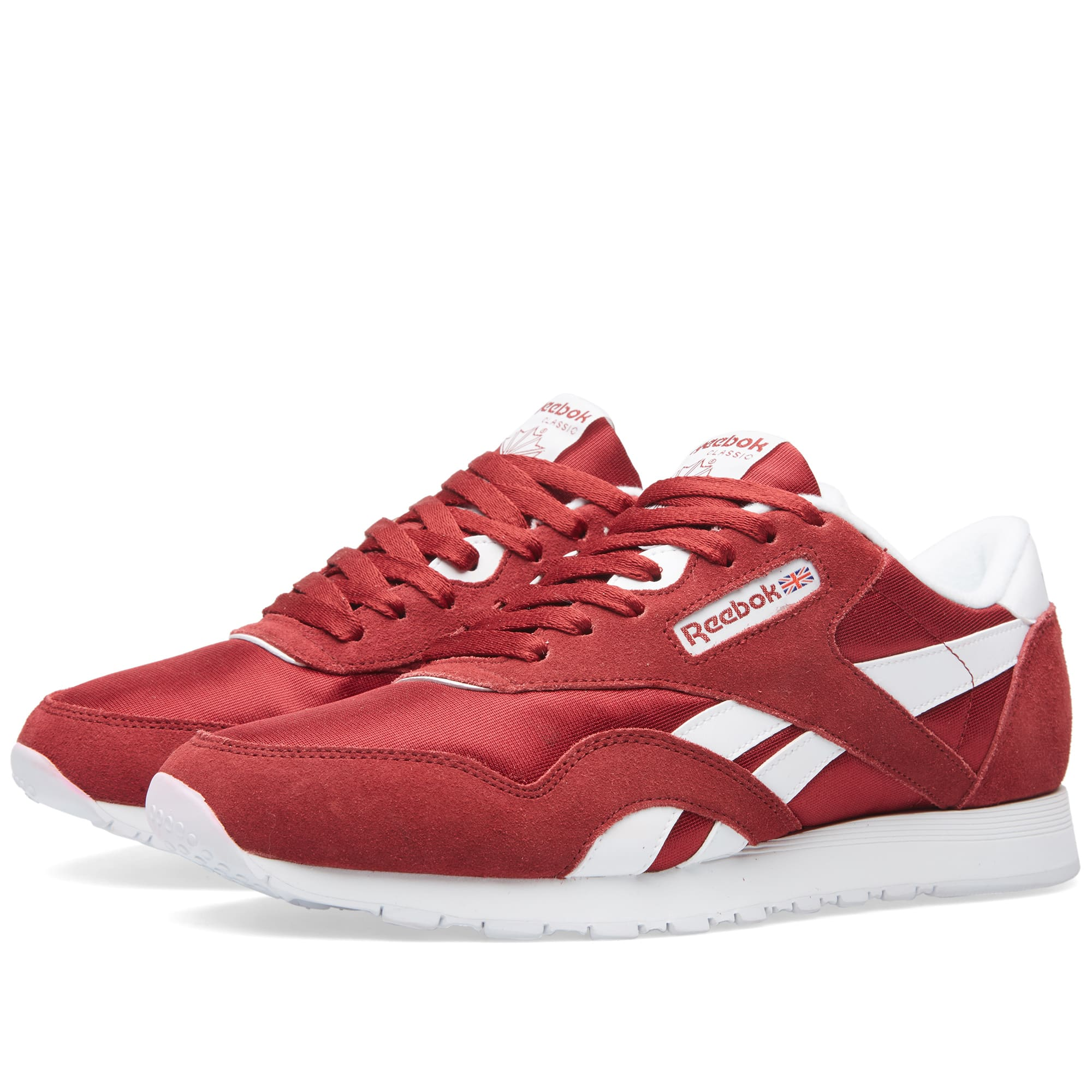 reebok classic red and white