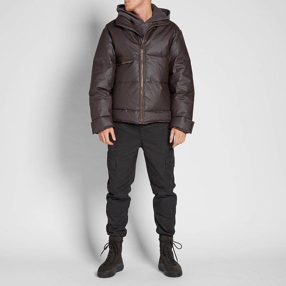 yeezy season 3 waxed cotton puffer jacket onyx shade. Black Bedroom Furniture Sets. Home Design Ideas