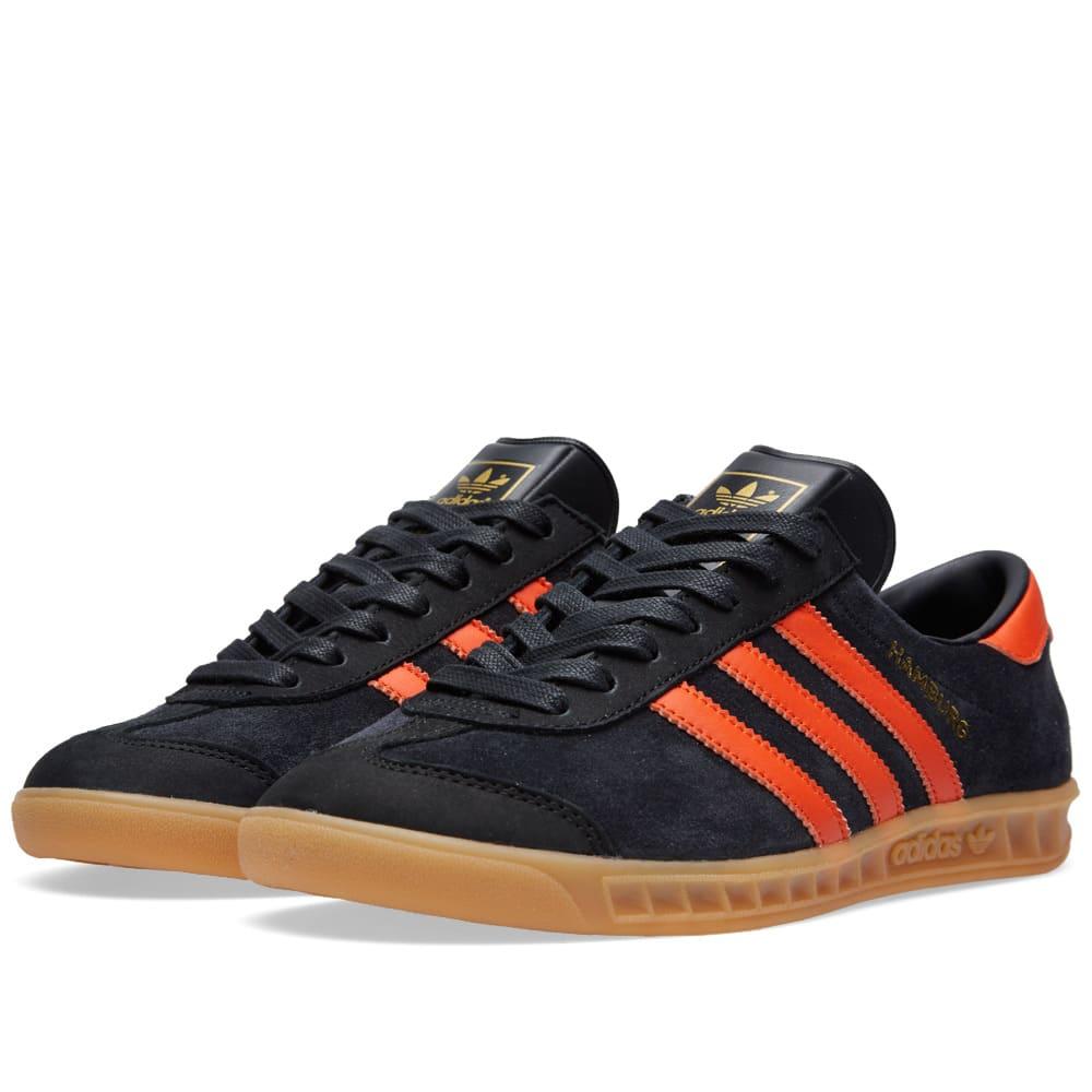 mientras Monumento Afirmar  Adidas Hamburg 'Brussels' Core Black & Collegiate Orange | END.