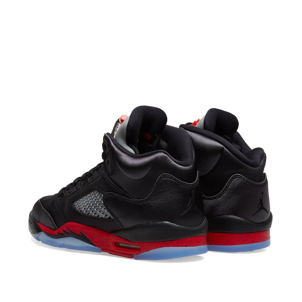 hot sale online 3f209 e9660 Air Jordan 5 Retro GS Black   University Red   END.