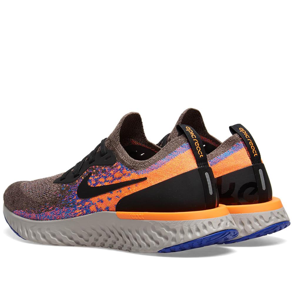 325fa6a80b692 Nike Epic React Flyknit Brown