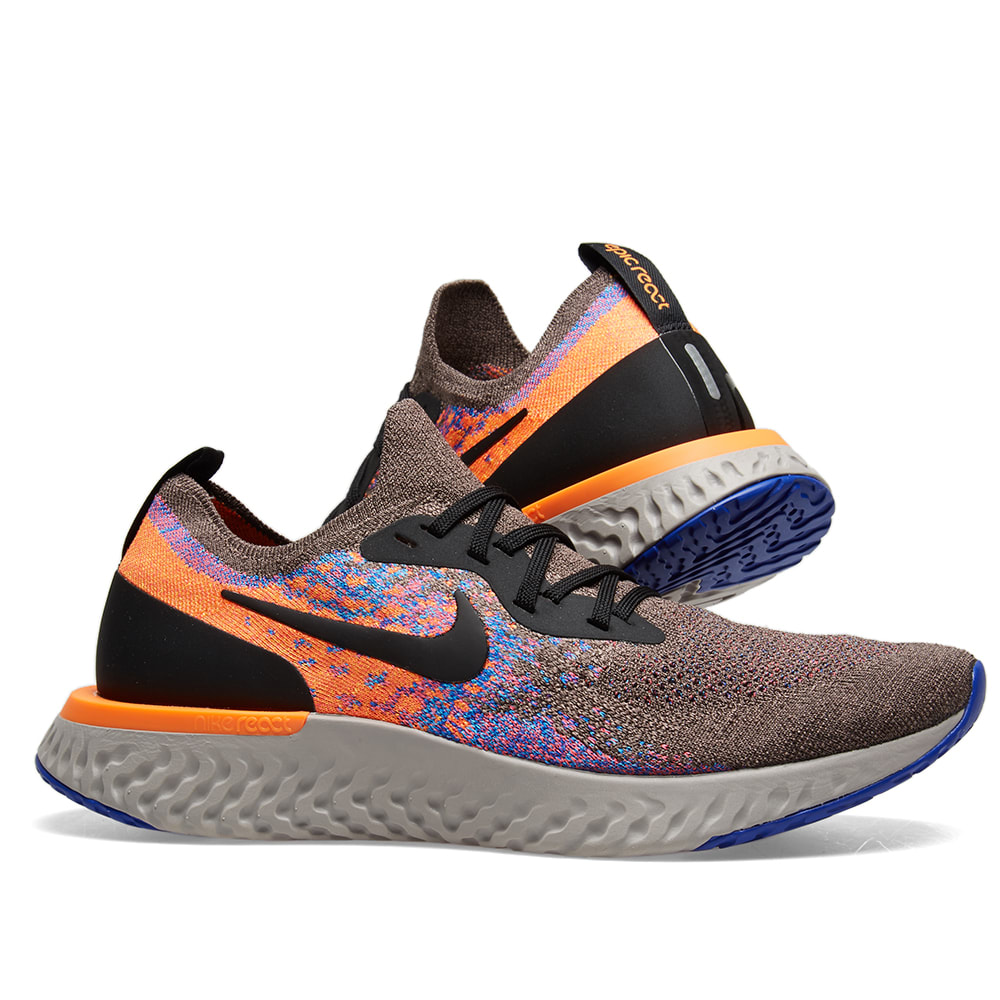 4caed19daed1 Nike Epic React Flyknit Brown