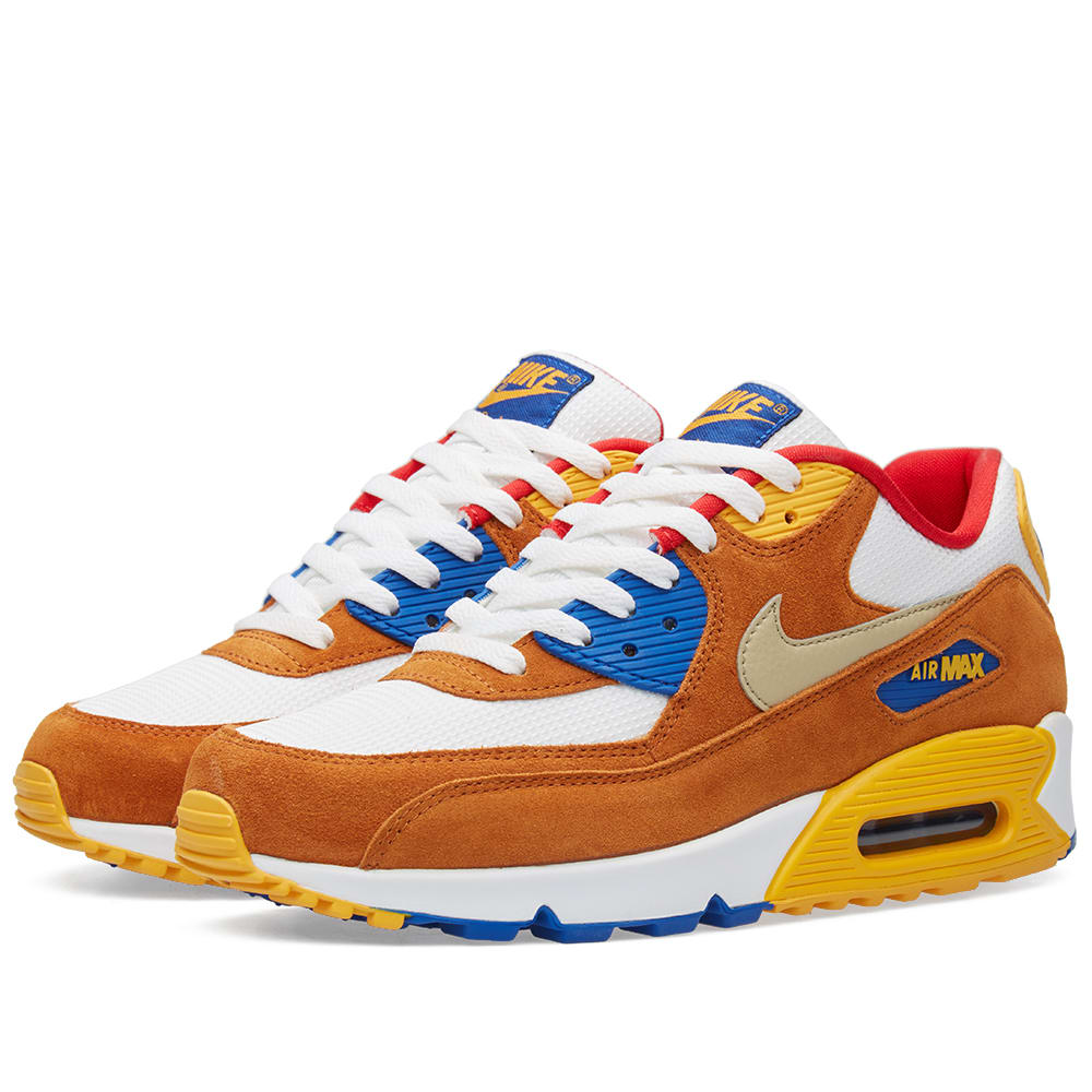 Nike Air Max 90 Premium (White & Metallic Gold)