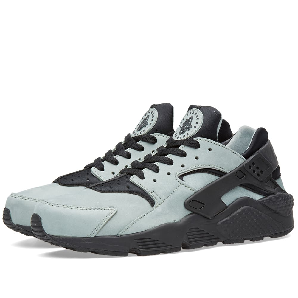 nike air huarache run premium mica green black. Black Bedroom Furniture Sets. Home Design Ideas