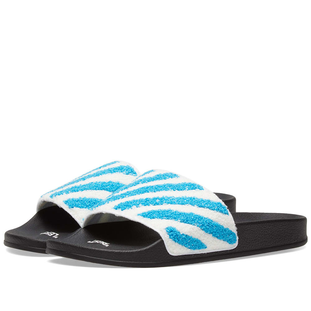 STRIPED TERRY SLIDES