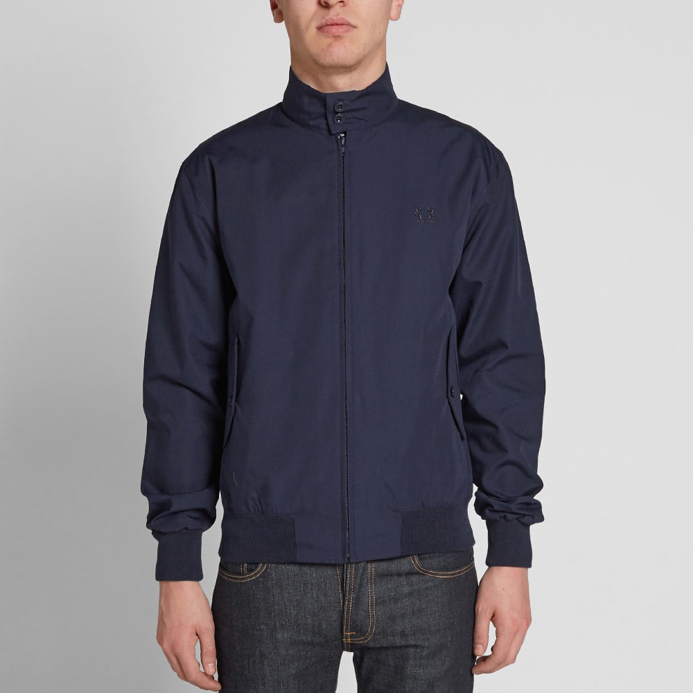 fred perry reissues made in england harrington jacket navy ice. Black Bedroom Furniture Sets. Home Design Ideas