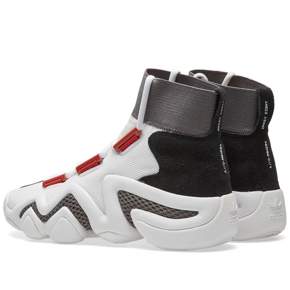 best loved c5770 1c769 Adidas Consortium Crazy 8 A//D Workshop White, Core Black & Core Red | END.