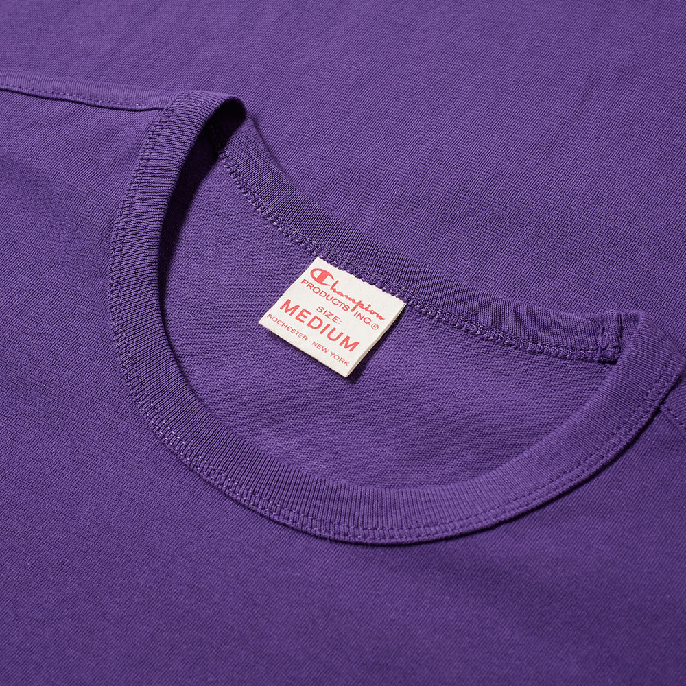 1f9551aad Champion Reverse Weave Small Script Logo Tee Purple Violet | END.