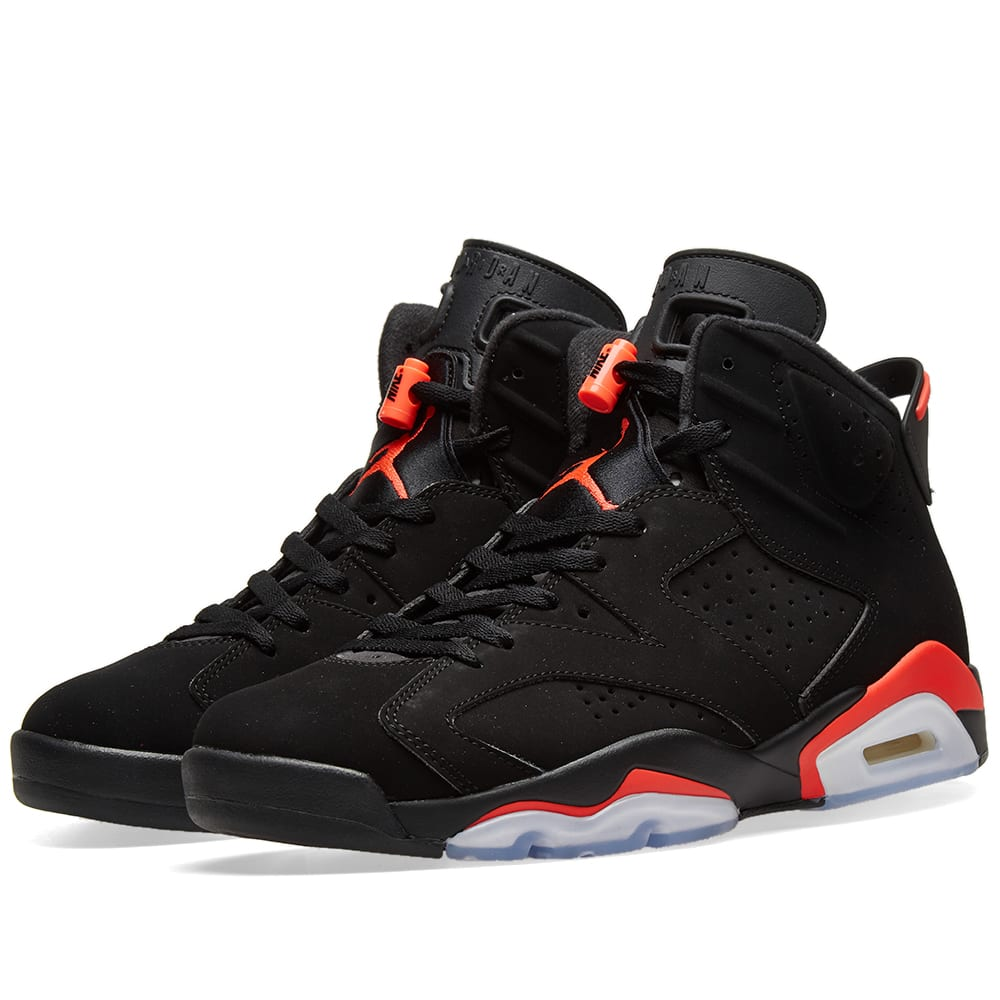 quality design 3248f 3c0c1 Air Jordan 6 Retro Black   Infrared   END.
