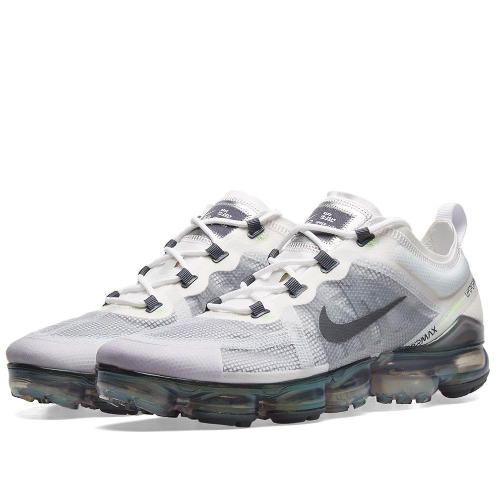 f1f7a273a77fb Nike Air VaporMax 2019 Premium White, Grey, Platinum & Lime | END.