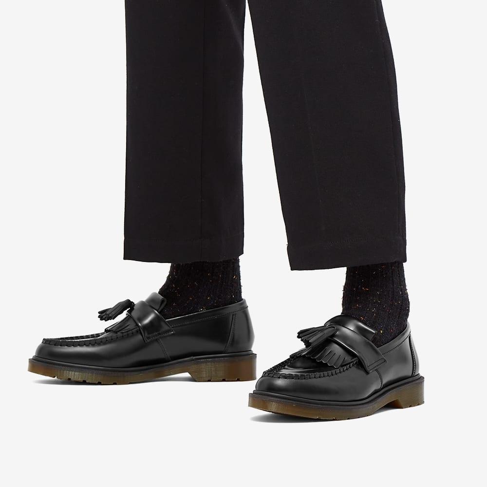 Dr Martens Adrian Tassel Loafer Black Polished Smooth End