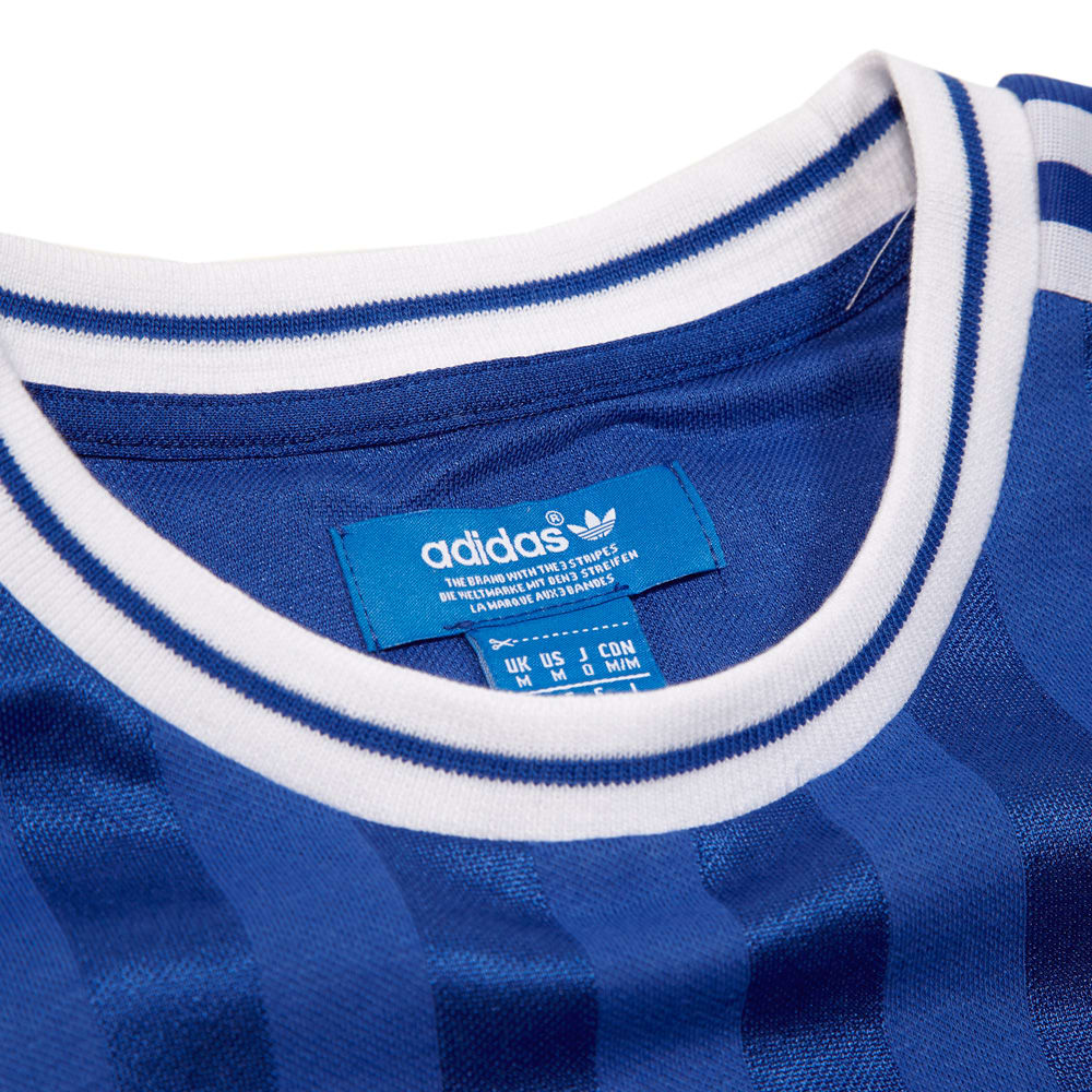 adidas originals chelsea retro t-shirt - cfc reflex blue