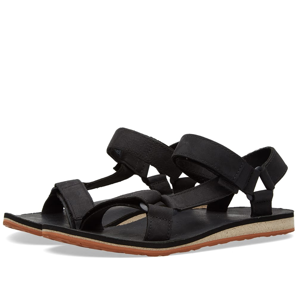 TEVA Original Universal Premium Leather Sandal, Black ...
