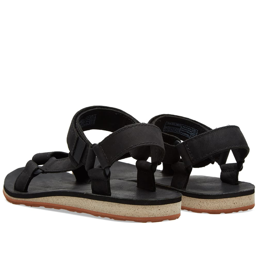 Teva Original Universal Premium Leather Sandal Black End