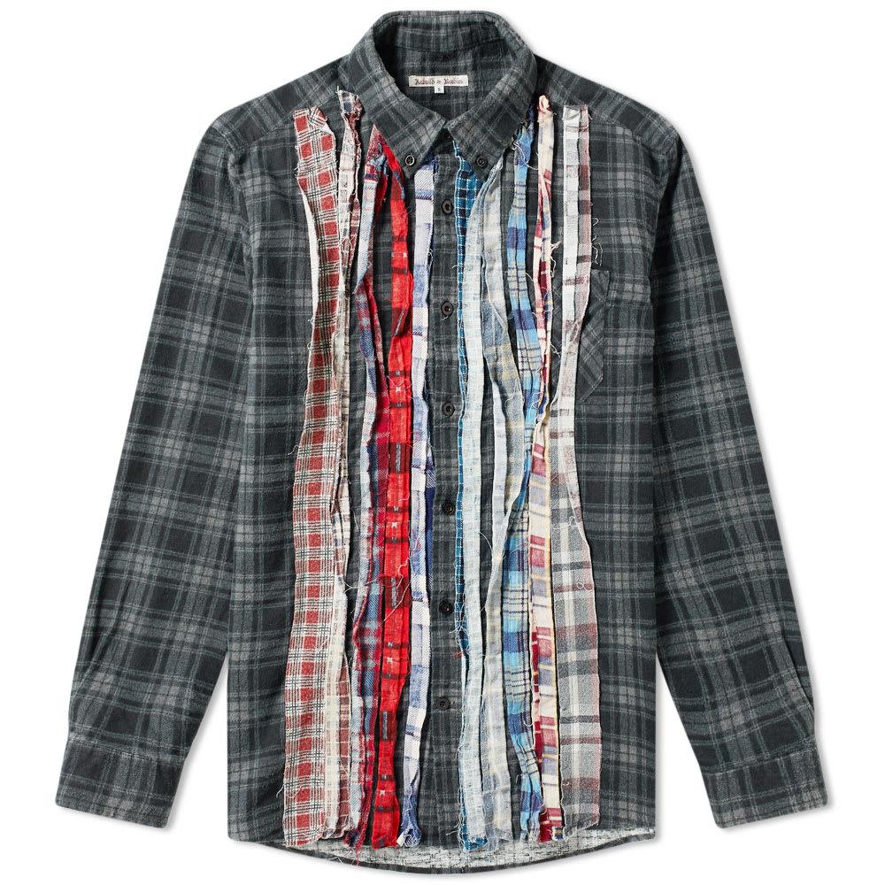 Needles T-shirts NEEDLES RIBBON FLANNEL SHIRT