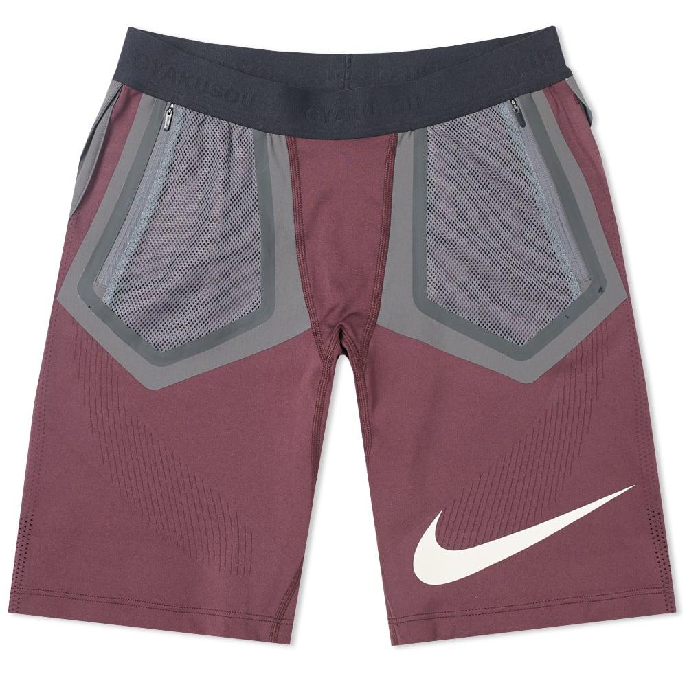 ff61d4a1a198 Nike x Undercover Gyakusou Techknit Short Deep Burgundy   Iron Grey ...