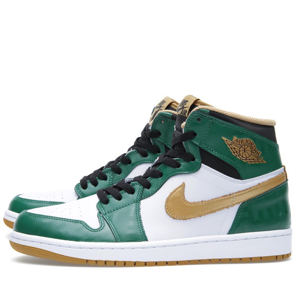 buy popular ca289 65914 Nike Air Jordan 1 Retro  Celtics  Clover   END.