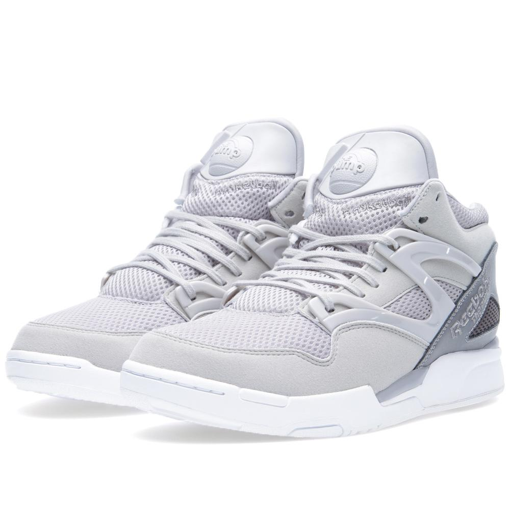 reebok pump omni lite steel shark white. Black Bedroom Furniture Sets. Home Design Ideas