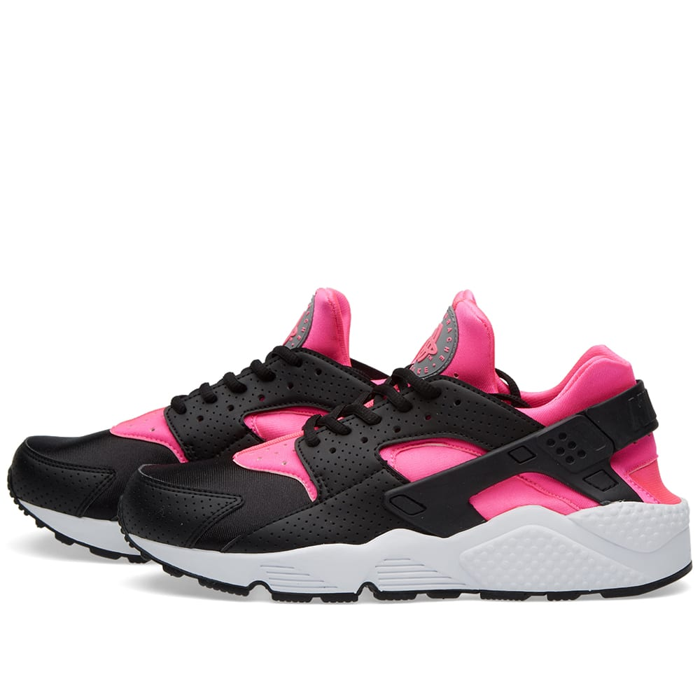 nike w air huarache run black pink blast white. Black Bedroom Furniture Sets. Home Design Ideas