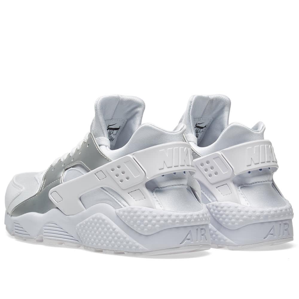 571e3b13f5c72 Nike Air Huarache White   Metallic Silver