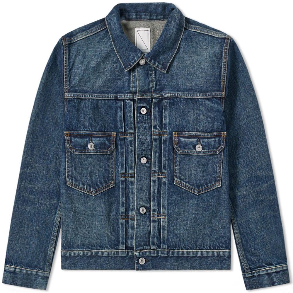 SOULIVE Soulive Damaged Denim Jacket in Blue