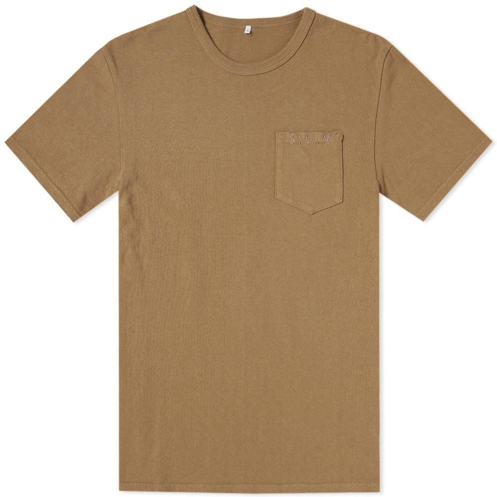 SOULIVE Soulive Slv Stitch Logo Tee in Brown