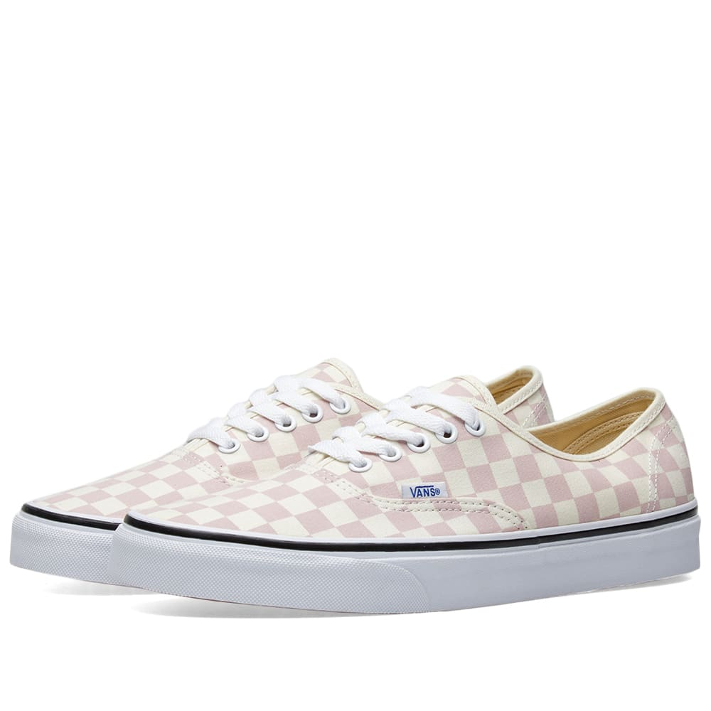 c75dde206895fe Vans Authentic Checkerboard Chalk Pink   Classic White