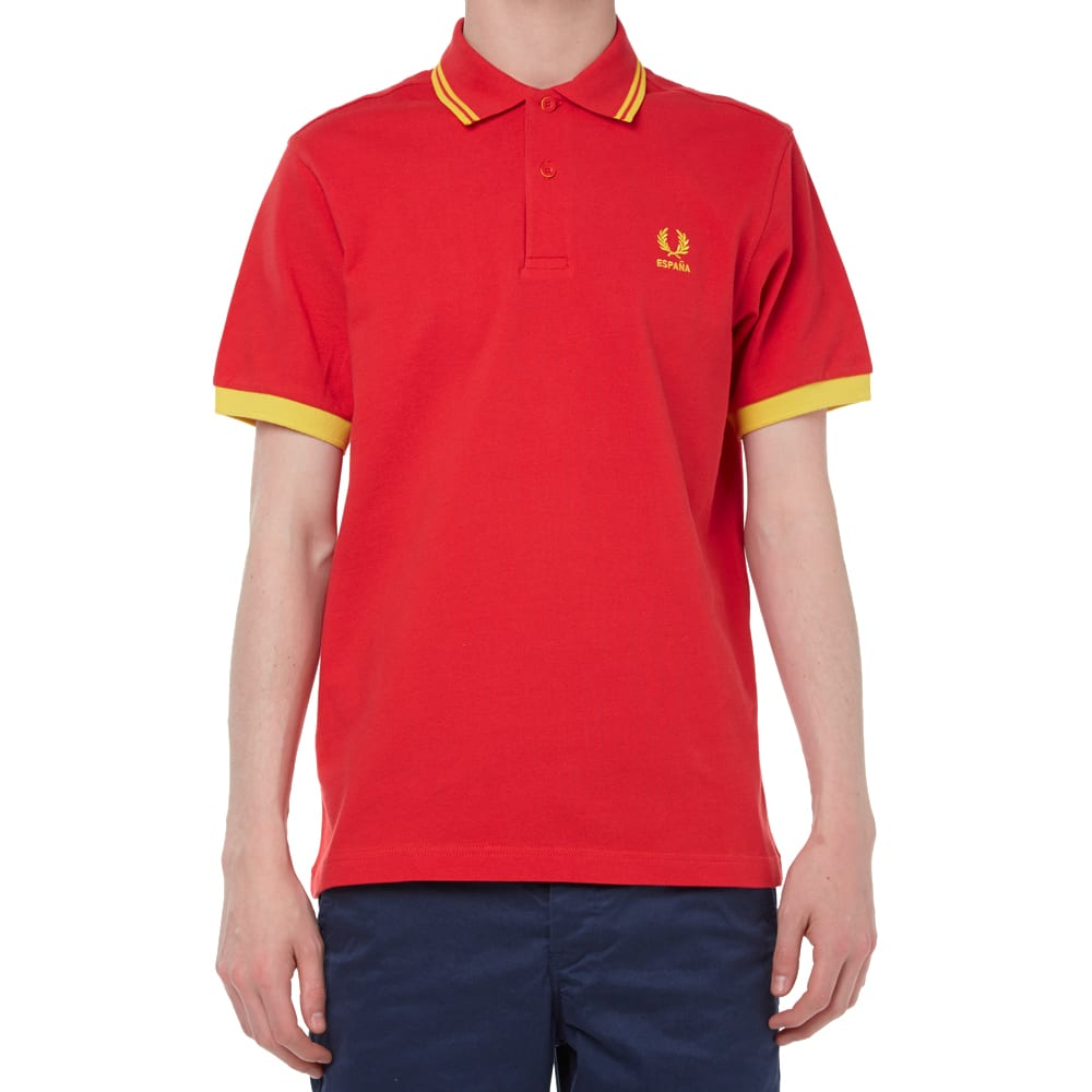 fred perry country polo 39 spain 39 red