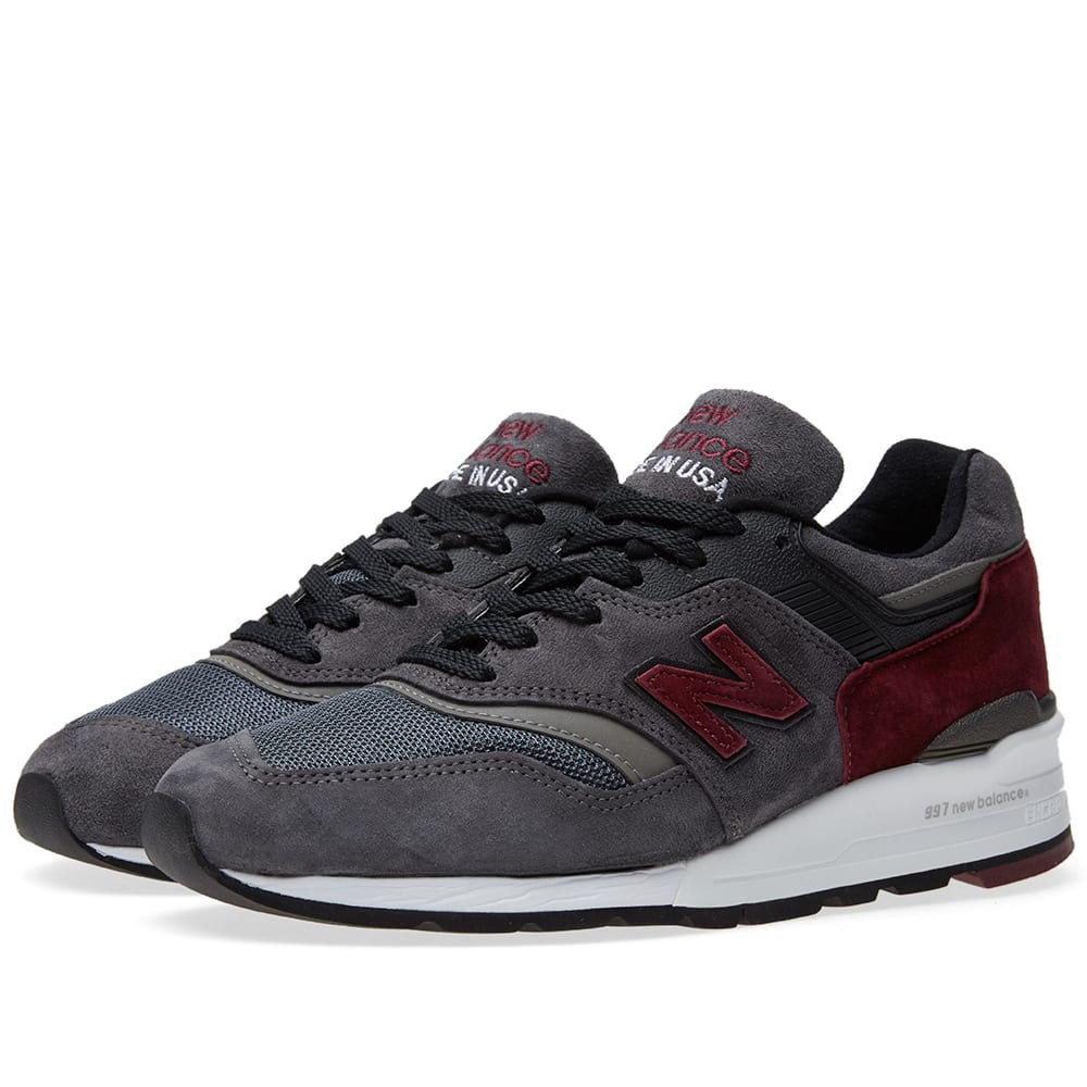 new product d3f25 1ee2f New Balance M997CCF - Made in the USA Charcoal   Burgundy   END.