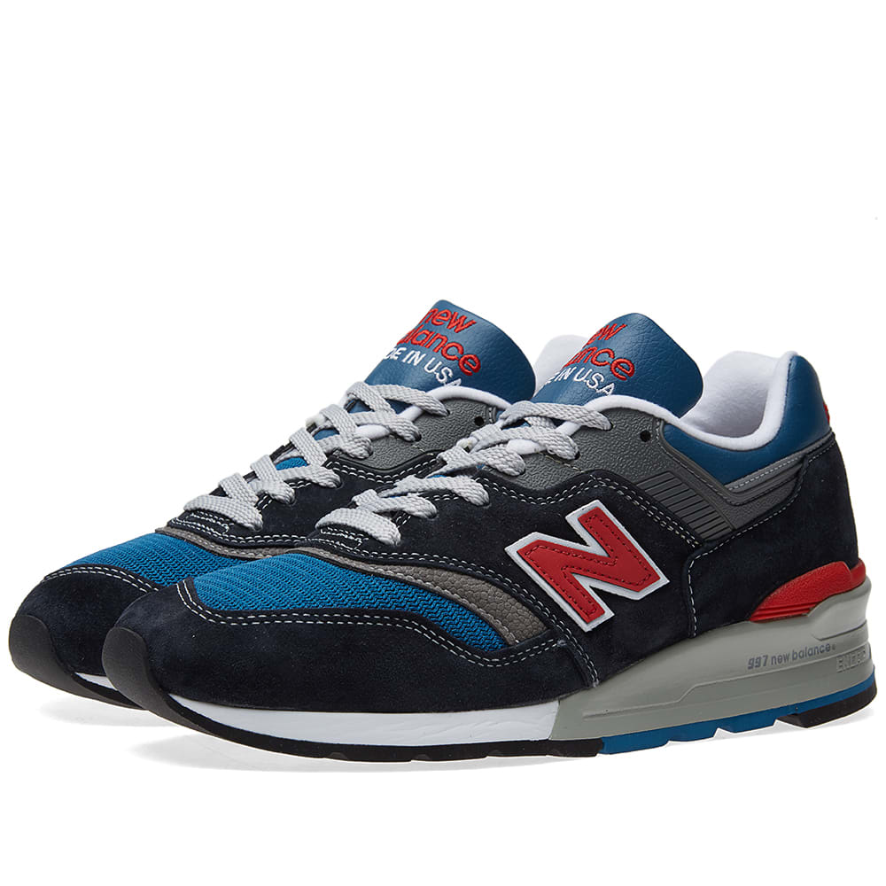 hot sale online b82c6 e5ce5 New Balance M997JNB - Made in the USA Navy, Blue   Red   END.