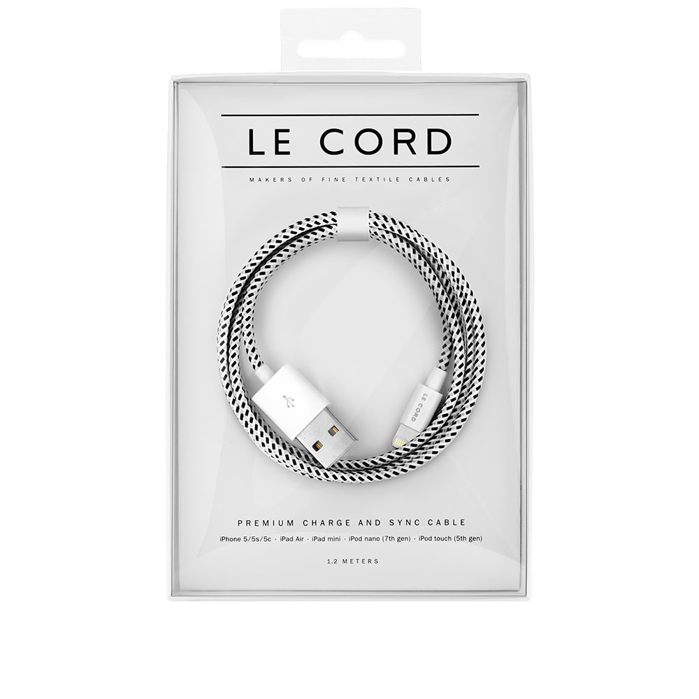 Le Cord Crouwel 1 2m Lightning Cable White Amp Black End