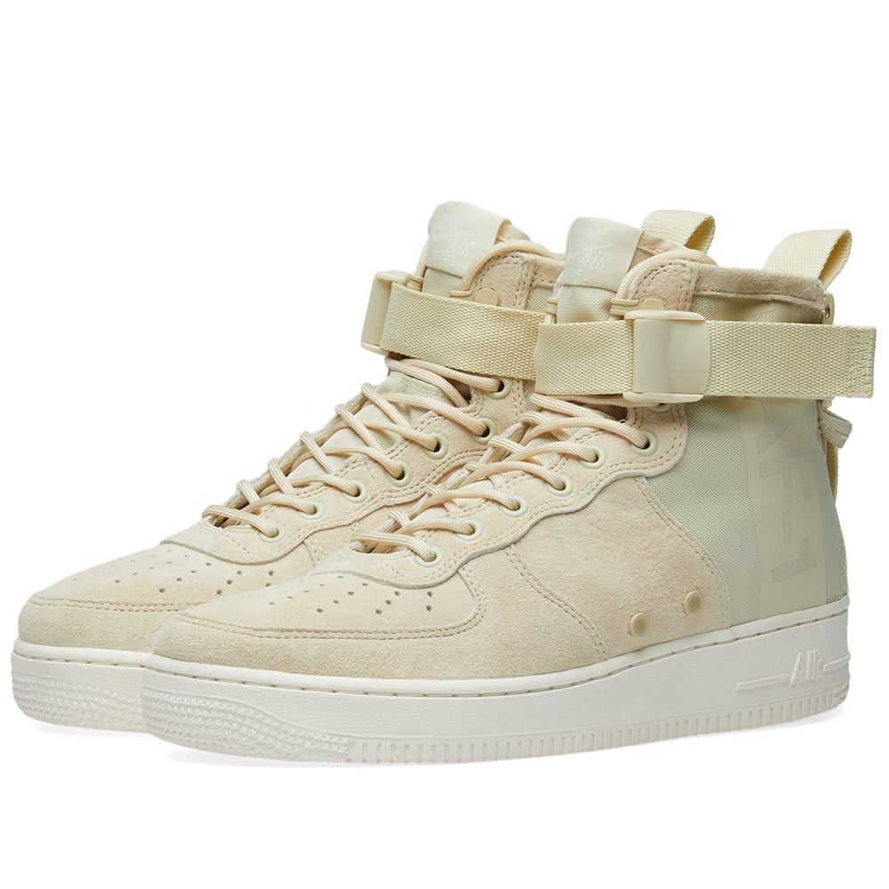 hot sale online 59e5e 72bd1 Nike SF Air Force 1 Mid W Fossil   Sail   END.