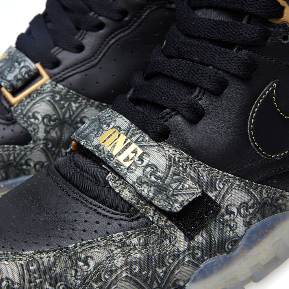 best website 7179a 39fe6 Nike Air Trainer 1 Mid PRM QS  Paid in Full  Black   Metallic Gold   END.
