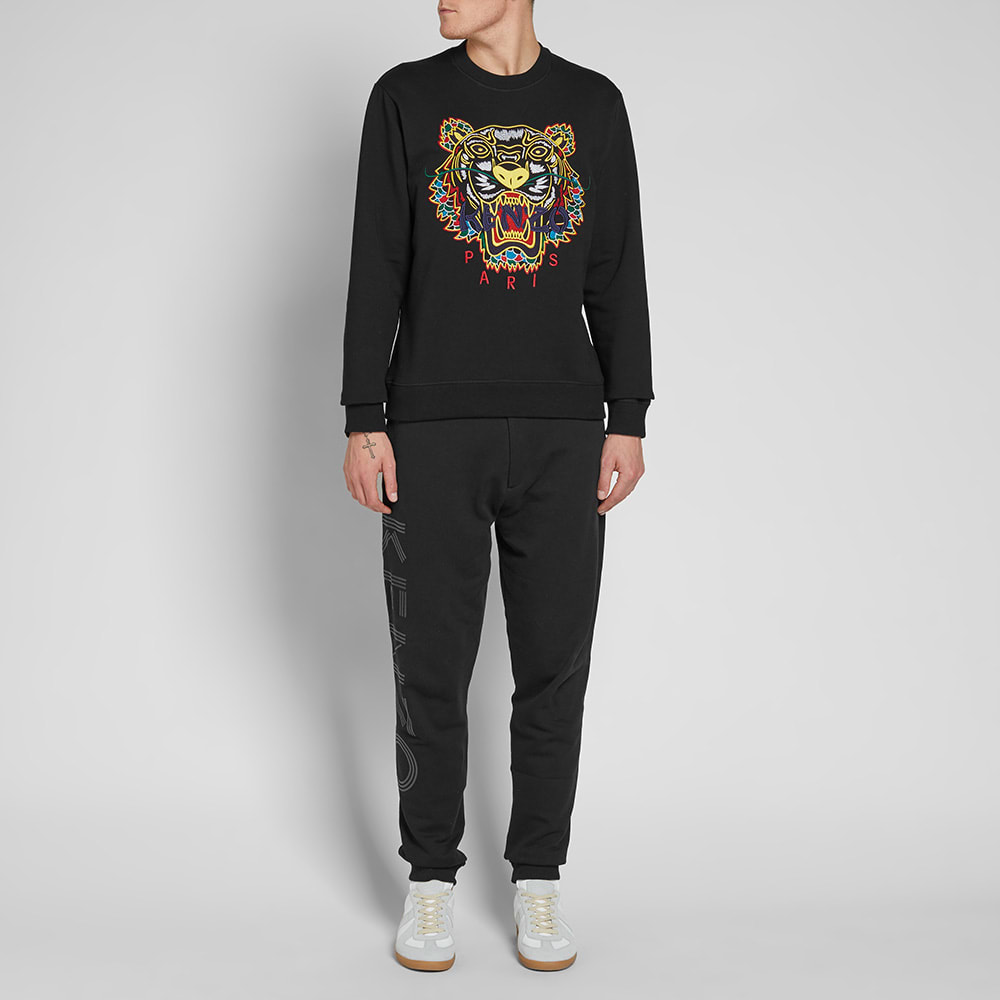 bea969e2 Kenzo Dragon Tiger Embroidered Crew Sweat Black | END.