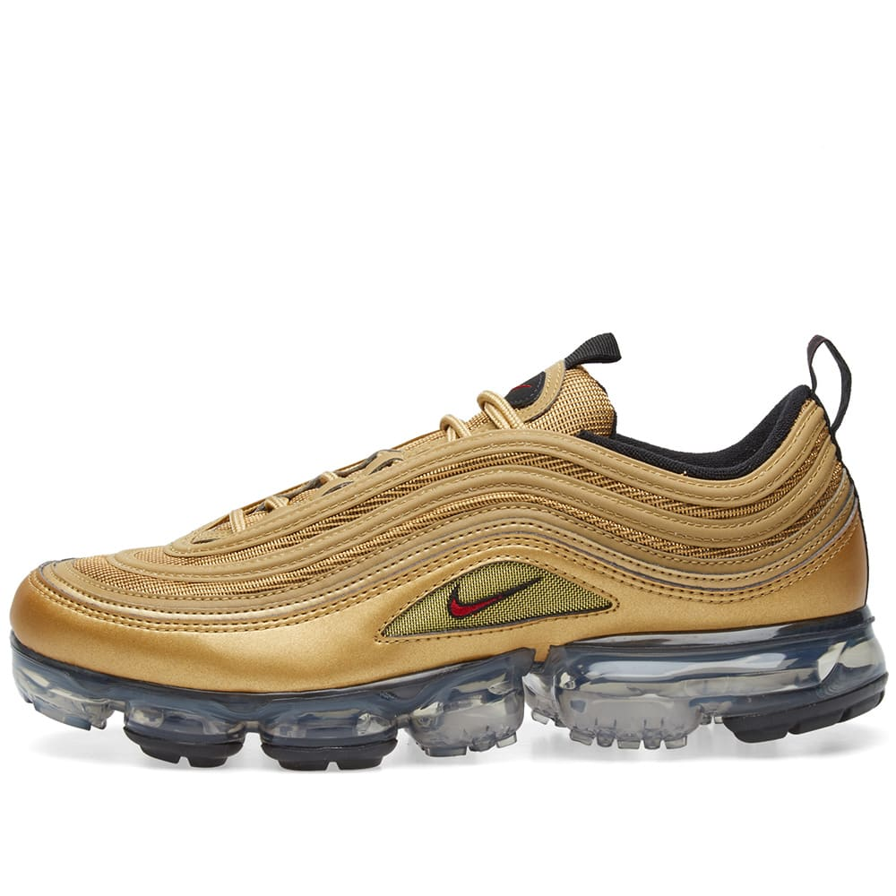 8016af3cd61 Nike Air VaporMax  97 Metallic Gold   Varsity Red