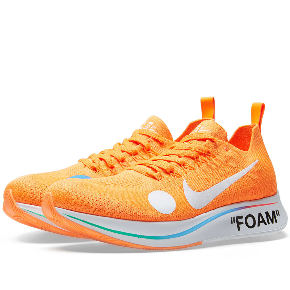 db6f3825c22a9 Nike x Off-White Zoom Fly Mercurial Flyknit Orange