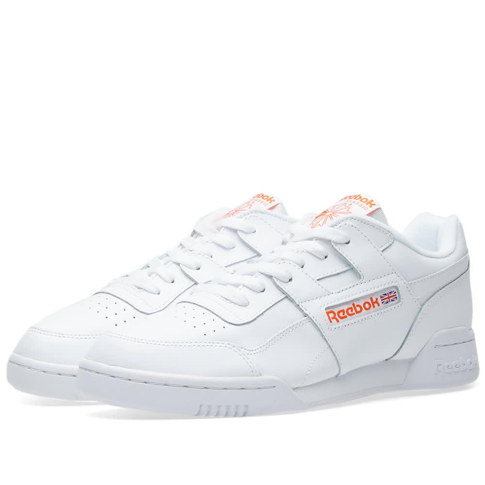0de85afdeb2 Reebok Workout Plus  Orange Label  White   Bright Lava