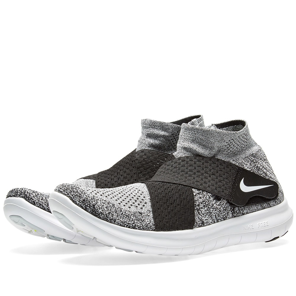 lowest price 3e1a9 26757 Nike Free RN Motion Flyknit 2017 W Black, White   Wolf Grey   END.