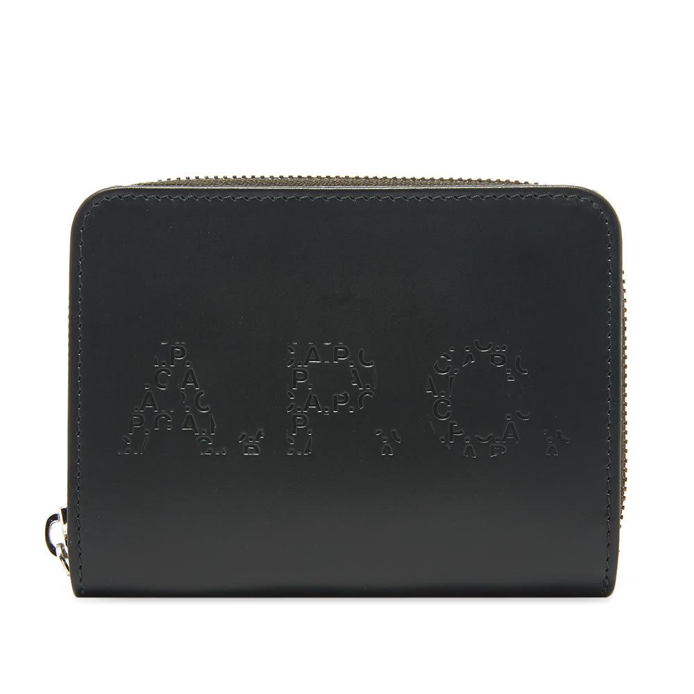 A.P.C. Emmanuel Embossed Logo Zip Wallet