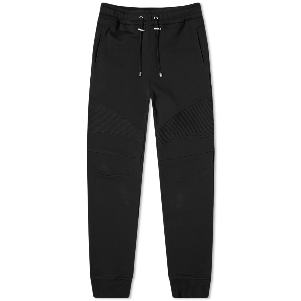 Balmain Elastic Sweatpants With Cuts In Black