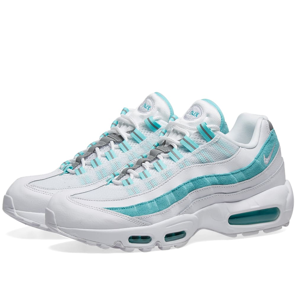 blue and white air max 95