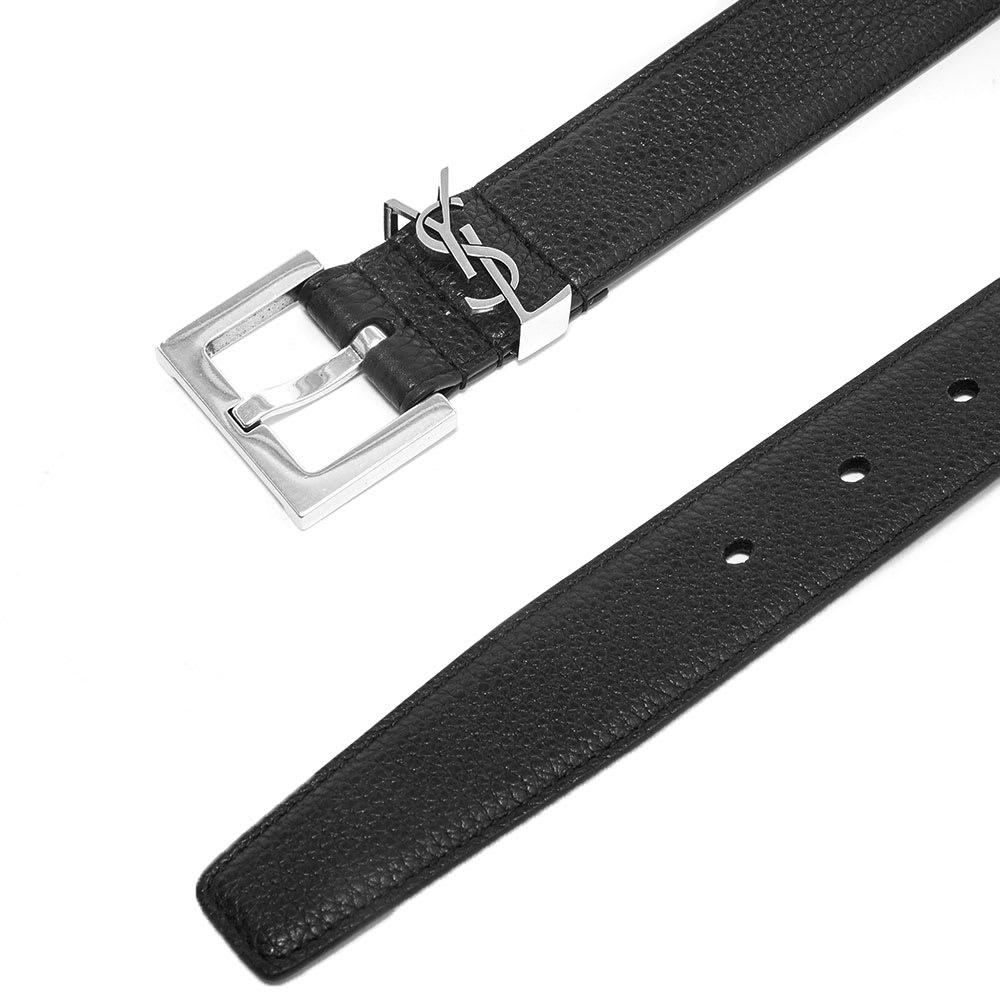 2deddbcf5 Saint Laurent YSL Leather Belt Black | END.