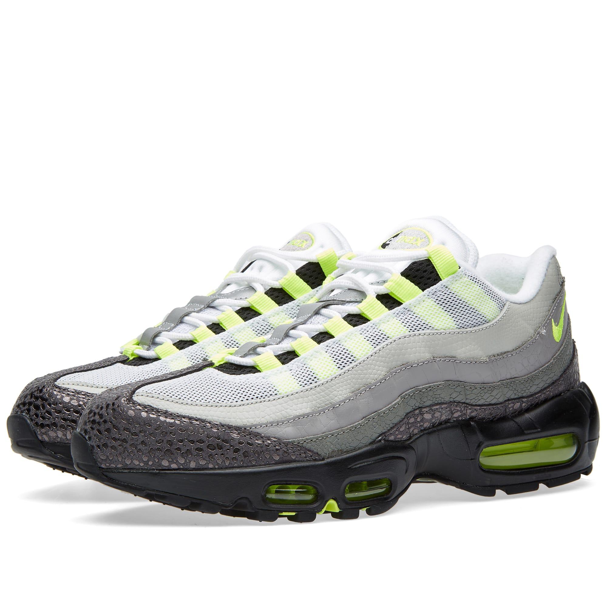 best sneakers 79256 e4dad Nike Air Max 95 OG Premium  Animal  Black, Volt   Medium Ash   END.