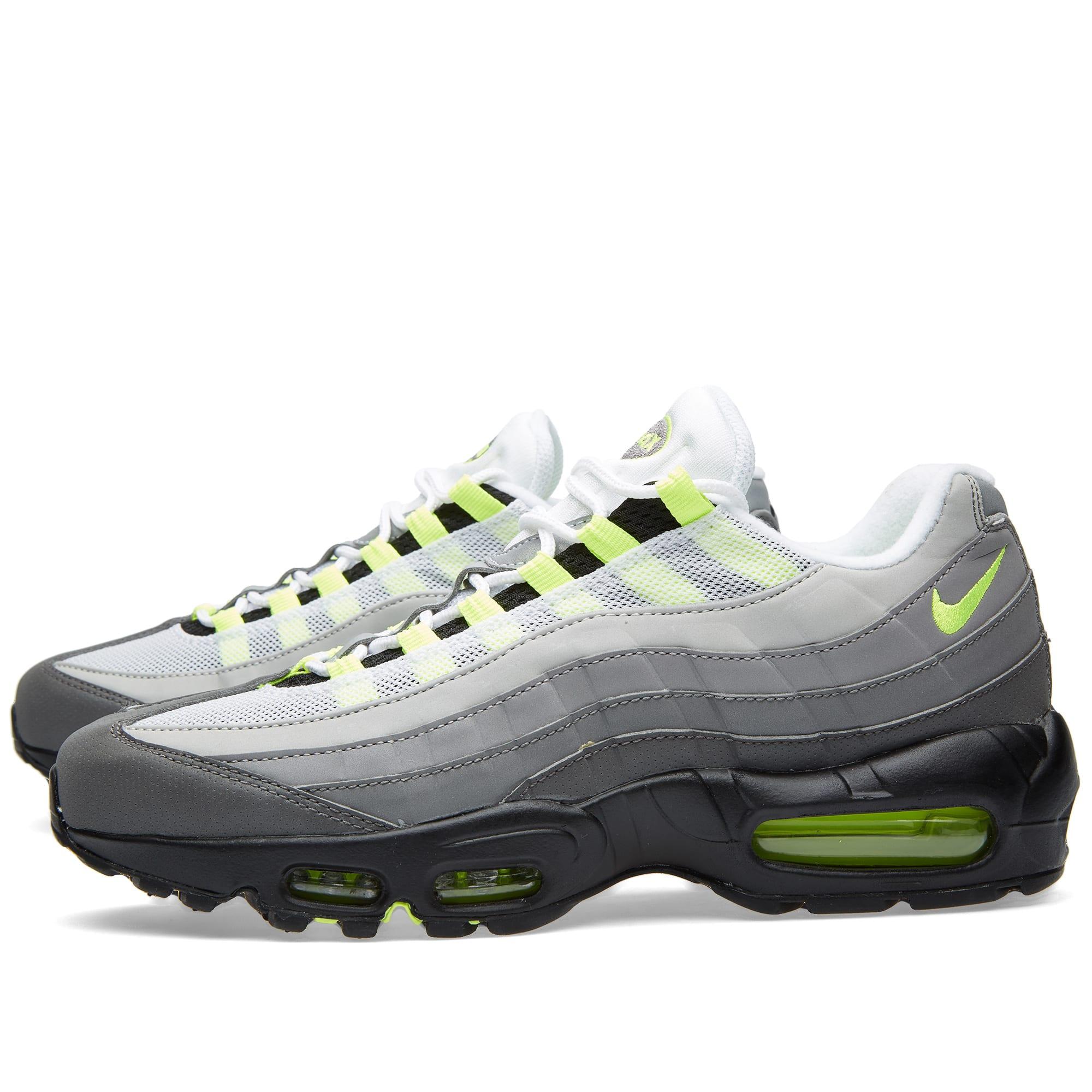 san francisco a1be1 d3113 Nike Air Max 95 OG Premium Leather  Reflective . Black, Volt ...