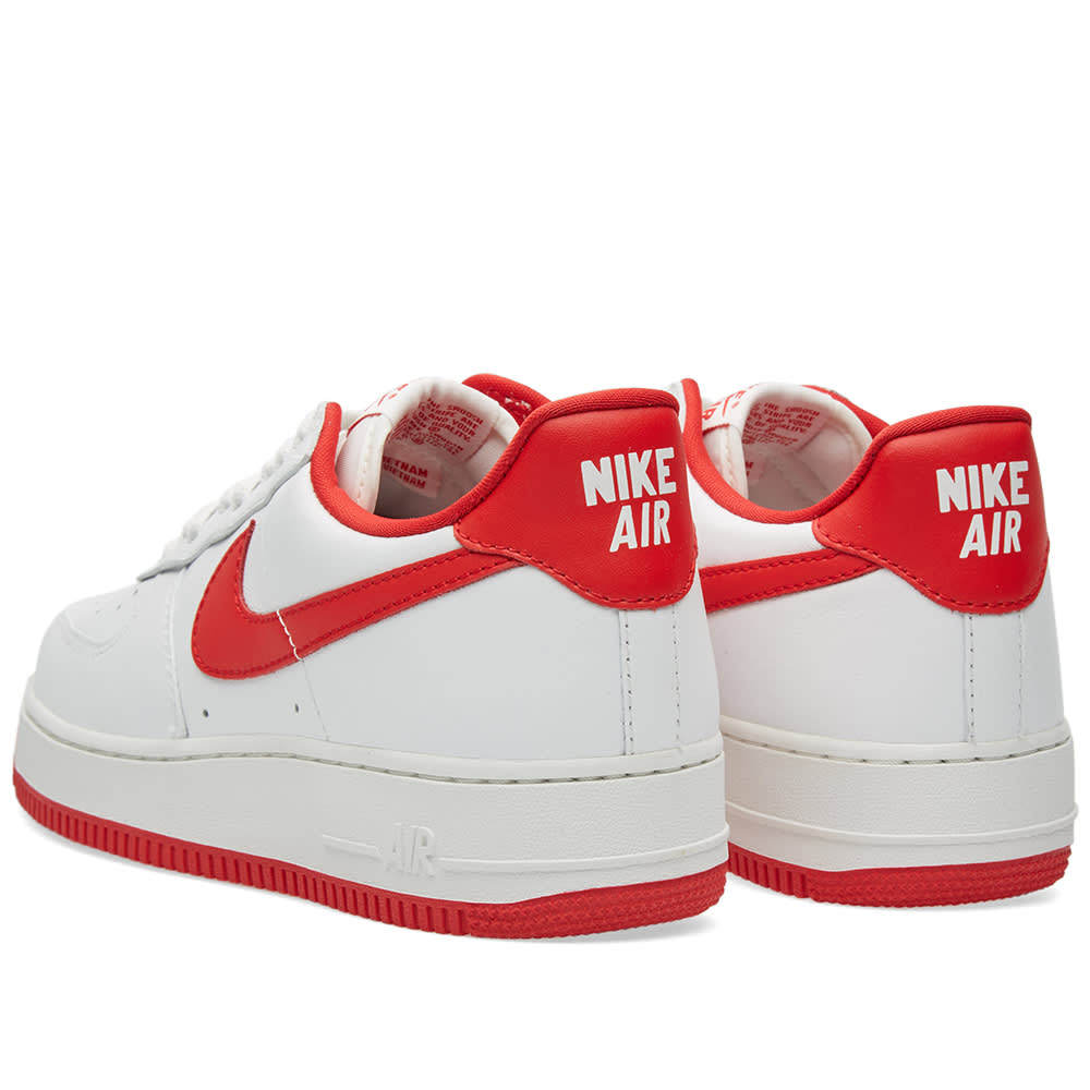 the latest 43ae3 bcda7 Nike Air Force 1 Low Retro Summit White   University Red   END.