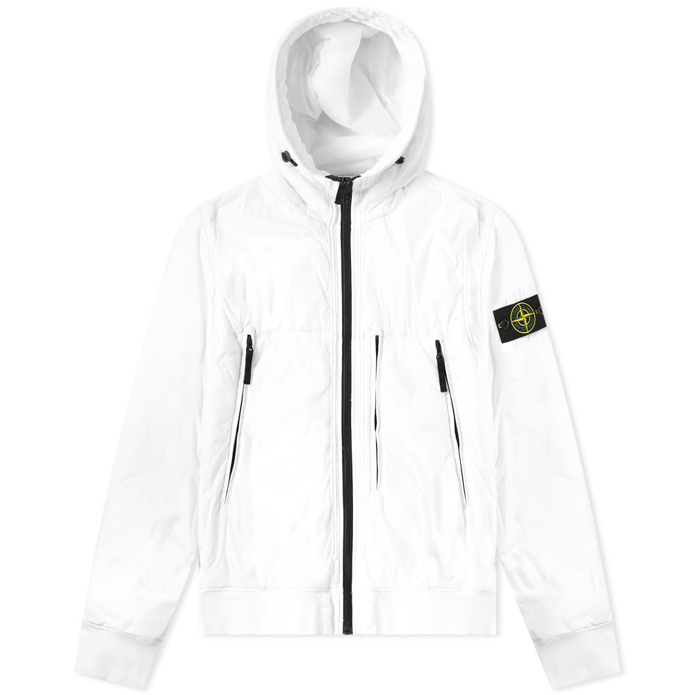 Stone Island Garment Dyed Crinkle Reps Hooded Jacket