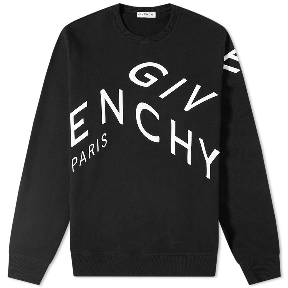 Givenchy Givenchy Embroidered Refracted Logo Crew Sweat