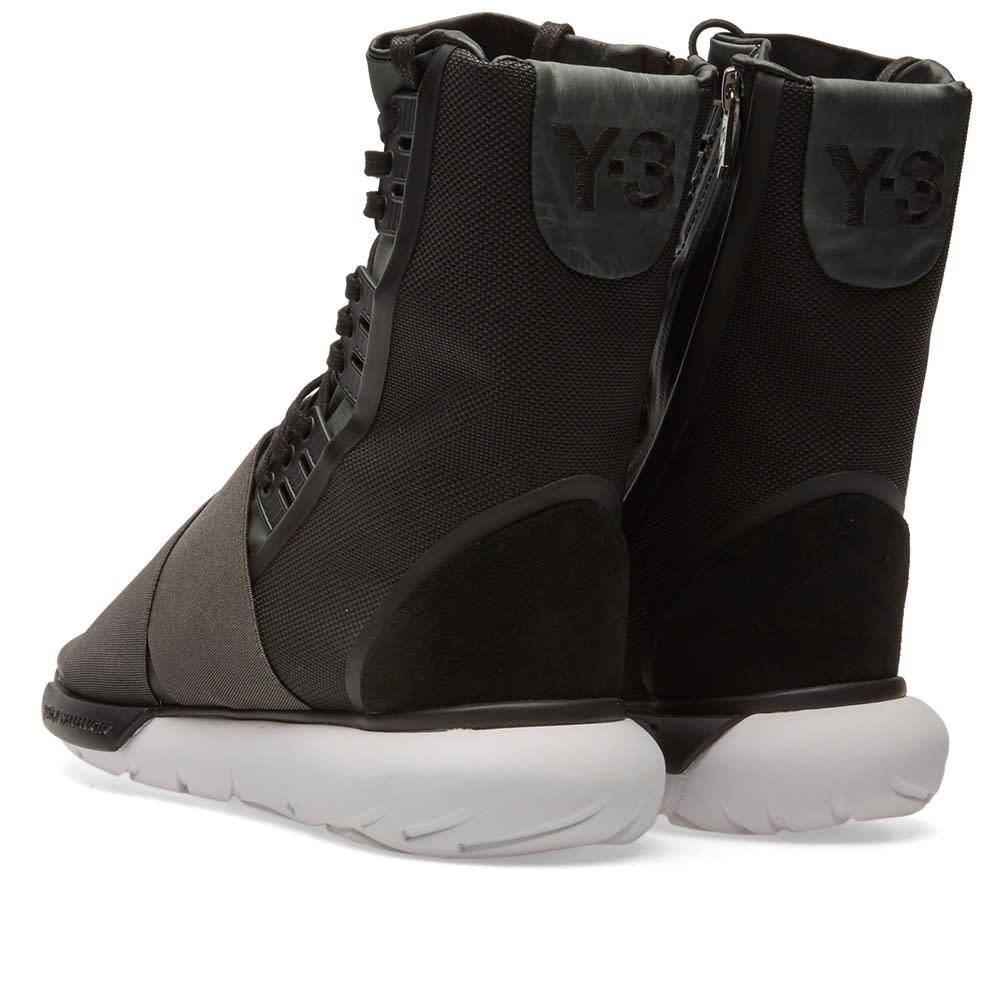 b76544ab1443f Y-3 Qasa Boot Charcoal   Core Black