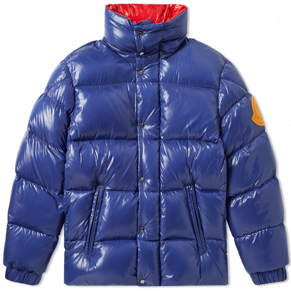 moncler genius venant over down jacket navy with orange logo 2 rh modesens com